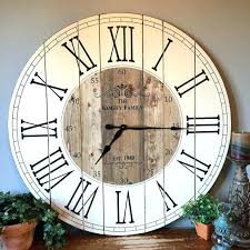hobby lobby wall clocks large wall clock inch farmhouse clock rustic wall clock by large wall