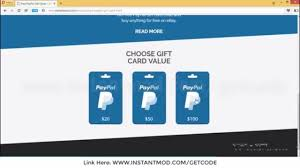 free paypal gift card generator how to get free paypal gift card codes in few minutes