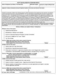 Scholarship Interview Questions Fillable Online Armyrotc Msstate Army Rotc Scholarship
