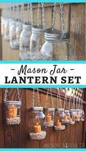 DIY Mason Jar Lantern Light Hangers - Set of 6 - Silver Chain - Regular  Mouth