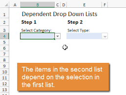 Excel Multiple Choice Test Template How To Create Dependent Drop Down Lists Excel Campus