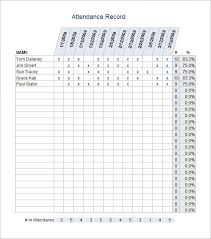 attendance spreadsheet excel sample attendance sheet templates