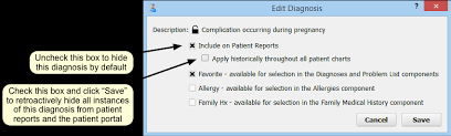 Hide Sensitive Diagnoses From The Patient Portal And Patient Reports ...