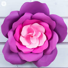 Cardstock Paper Flower Giant Paper Roses In 5 Easy Steps Free Printable Template Paper