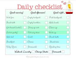 Raising Up Rubies Daily Checklist College Hacks School Checklist