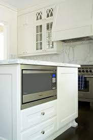 microwave in island. Kitchen Island Microwave Nook In
