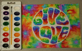 love art trippy mine rainbow painting psychedelic paint tie dye artists on  tumblr watercolors give love
