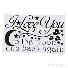 Loving You Quotes Amazing TOOGOOR LOVE Quotes Wall Decor Wall Art I LOVE YOU To The Moon And