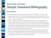 Creating APA Style Annotated Bibliographies   th Ed  Annotated  bibliographies are not specifically addressed in