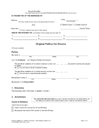 Printable Online Papers Form Divorce In 2019 Laywers Forms Template Sample Papers