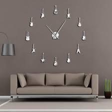 Dlh Design Llc Amazon Com Dlh Wall Sticker Wall Clock 80125cmdiy Wall