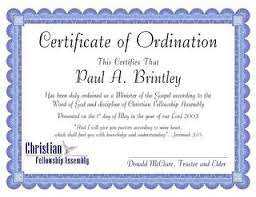 blank ordination certificates free blank certificate of ordination for minister example drabble info