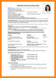 10 Sample Of Cv For Job Application Pdf Dtn Info