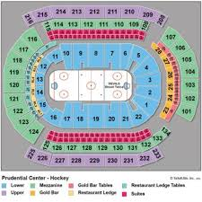 Newark Arena Seating Chart 63 Circumstantial Seating Chart For Prudential Center