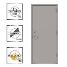 Commercial Door Handing Chart L I F Industries 36 In X 80 In Gray Flush Left Hand Security Steel Prehung Commercial Door With Welded Frame
