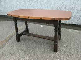 stylish copper top coffee table with vintage retro in designs 13