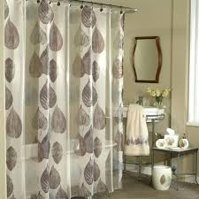 smlf new ex cell home fashions gossamer leaf fabric shower curtain natural designer fabric shower curtains extra