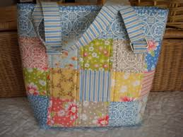 Patchwork and Quilted Bag Patterns to Try & Cute Patterended Patchwork Tote Adamdwight.com