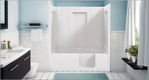 bathtub with a side entry door for easy access this economical deep soaking model allows the bather to have a full length