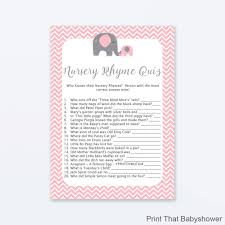 Whale Nursery Rhyme Quiz Baby Shower Game Whale NurseryBaby Shower Games Nursery Rhymes