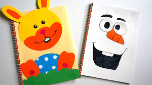 frozen olaf snowman easter bunny homemade diy individual notebook cover