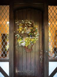 farmhouse style front doorsRustic Farm and Gardenstyle Front Door Decor  HGTV