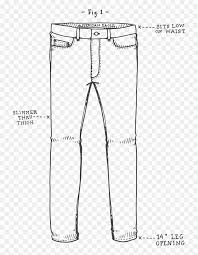 How To Draw Pants Pants Drawing Hd Png Download Mens Jeans Png