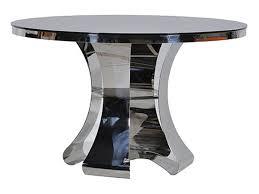 black and chrome furniture. Terano Contemporary Black / Chrome Round Dining Table And Furniture
