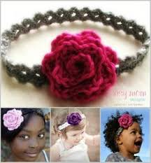 Crochet Flower Pattern For Headband Delectable RTW Crocheted Flower Headband TUTORIAL Stuff I May Never Have