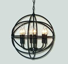 beautiful wrought iron orb chandelier or wrought iron orb chandelier and iron globe chandelier iron orb