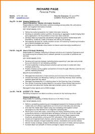 Sample Profile For Resume Personal Profile Resume Sample Resume For