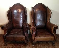 traditional wingback chairs. Interiors With Awesome Leather Wingback Chair: Pair Of Victorian Chair And Wood Floors Traditional Chairs