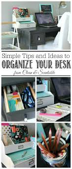 organize your office space. Enchanting I Love These Simple Organization Ideas To Keep Your Desk Neat And Organized Contemporary Office Organize Space O
