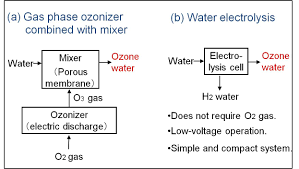 two types of representative ozone water ion systems