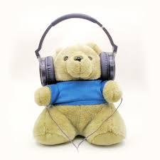 Teddy Bear Display Stands Bear Commemorative Headphone Display Stand Headphone Holder 100