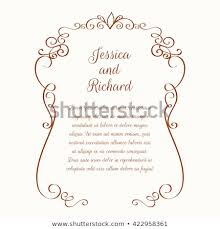 Invitation Boarders Flower Borders Template Greeting Cards Invitations Stock Vector