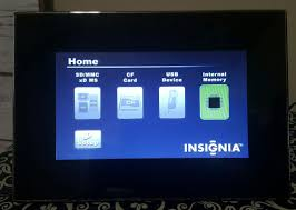 7 insignia digital photo picture frame model ns dpf7g with remote