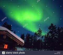 Northern Lights Above The Hotel Kakslauttanen In Lapland