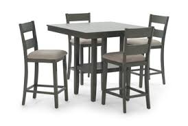 image loft grey counter table with 4 counter stools