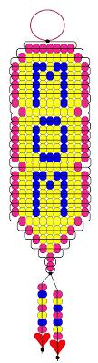 Pony Bead Keychain Patterns