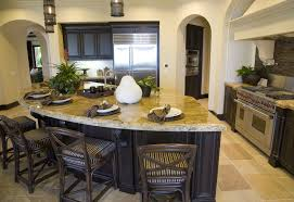 do it yourself kitchen island with seating | Small kitchen with rounded  kitchen island and drop