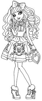 A Coloring Page Of Madeline Hatter