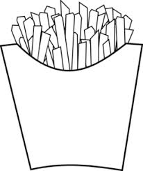 french fries clipart black and white. Brilliant Clipart French Fries Line Art Clip To Clipart Black And White A