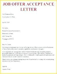 Employment Acceptance Letter Sample Job Acceptance Letter Email Best Of Fer Example For