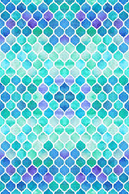 Blue Pattern Wallpaper Enchanting Blue And Green Moroccan Pattern Wallpaper Micklyn Spoonflower