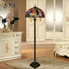 stained glass floor lamp style rose flower stained glass floor lamp for dining room bedroom lamp