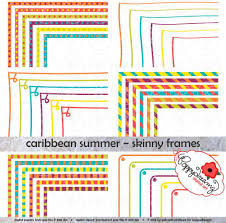 Small Picture Caribbean Summer Skinny Frames Mega Pack Clip Art Pack Card