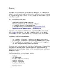 Example Of A Proper Resume Examples Of Resumes