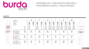 Burda Size Sewing Patterns Size Guide Jaycotts Co Uk
