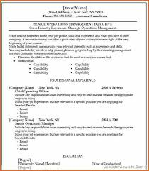 Gallery Of Resume Templates Word 2003